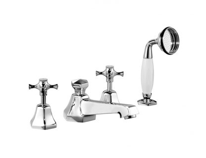 Cubist Deck-Mounted Bath Shower Set