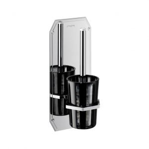 Cubist Wall Mounted Lavatory Brush and Holder