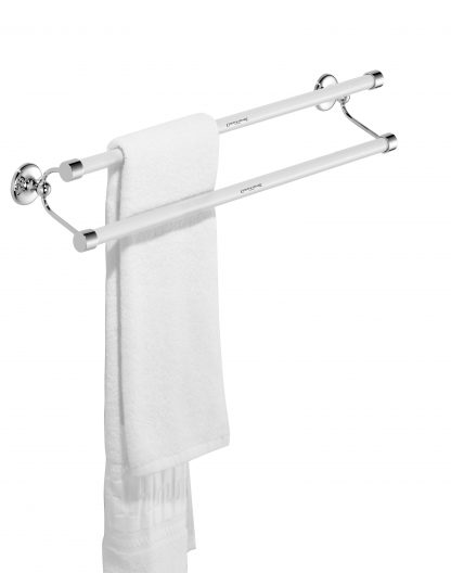 Edwardian Double Towel Rail Standard