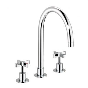 DCA Kitchen Three-Hole Sink Mixer