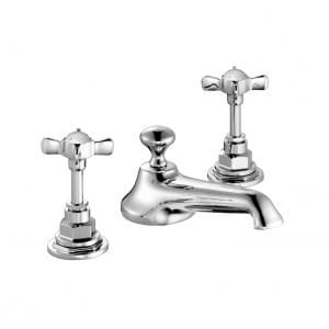 Edwardian Three-Hole Basin Mixer with Pop-Up Waste