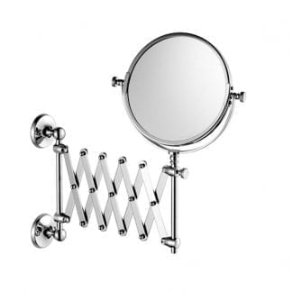 Edwardian Extendible Shaving/Make-Up Mirror, Wall Mounted