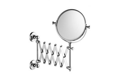 Edwardian Extendable Shaving/Make-Up Mirror, Wall Mounted