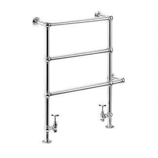 Edwardian Floor/Wall Mounted Heated Towel Rail
