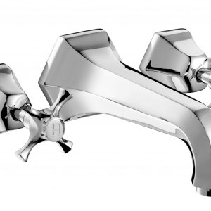 Cubist Wall Mounted Basin Mixer