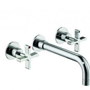 DCA Wall Mounted Three-Hole Basin Mixer