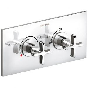 "DCA ½"" Concealed Thermostatic Mixer with Volume Control, Horizontal Plate"