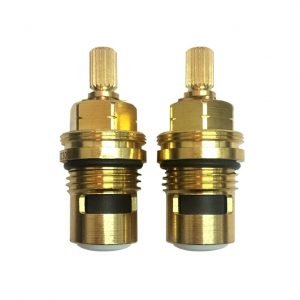 Pair of 1/2'' Quarter Turn Ceramic Cartridges ( 2 x Clockwise - for cross-top fittings )