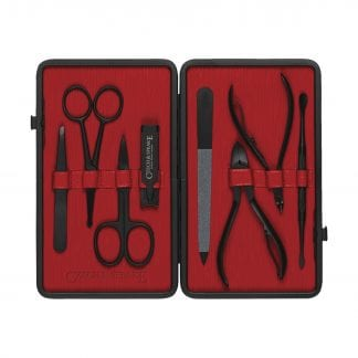 Manicure Set - Black/Red Teflon