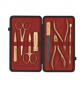 Manicure Set - Black/Red Gold