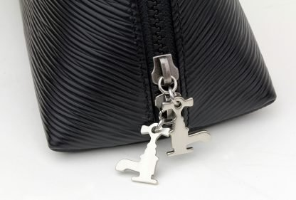 Black Soft Leather Travel Pouch - 2L