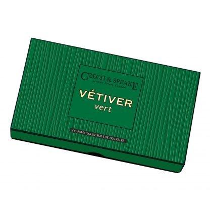 Vétiver Vert Cologne for the Traveller 4x15ml
