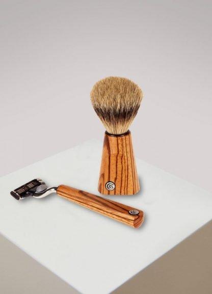 Zebrano Wood Shaving Set