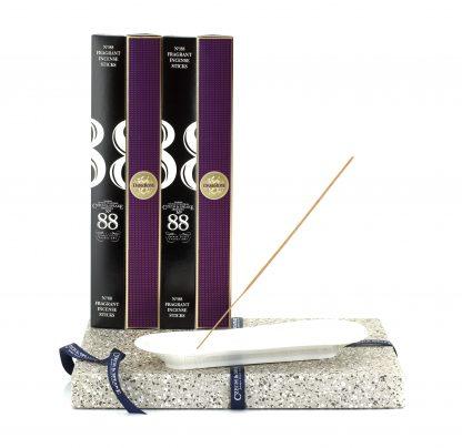 Incense Stick Kit – Holder with No.88 & Dark Rose