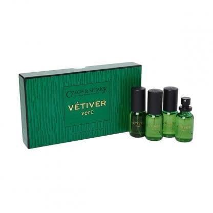 Vetiver Vert Cologne for the Traveller 4x15ml