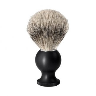 No.88 Silver Tip Badger Shaving Brush, Black