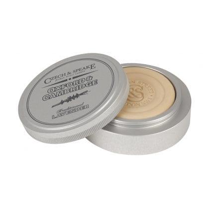 Oxford & Cambridge Travel Shaving Dish with 25g Soap, Silver