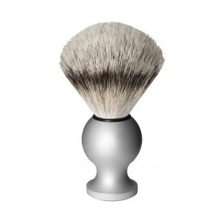 Oxford & Cambridge Silver Tip Badger Shaving Brush, Silver