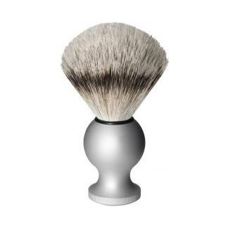 Oxford & Cambridge Silver Tip Badger Shaving Brush, Silver