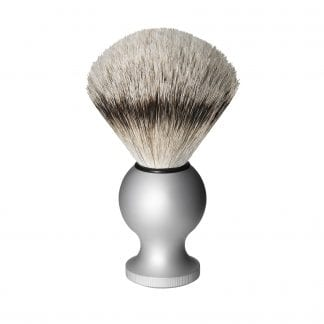 Badger Travel Shaving Brush, Silver