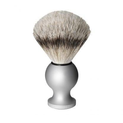 Badger Shaving Brush, silver