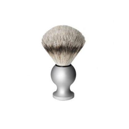 Oxford & Cambridge Badger Travel Shaving Brush, Silver