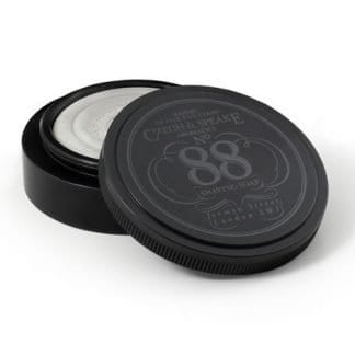 No.88 Anodised Aluminium Travel Shave Dish with 25g Soap, Black