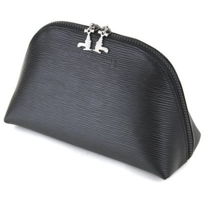 Black Soft Leather Travel Pouch - 2L