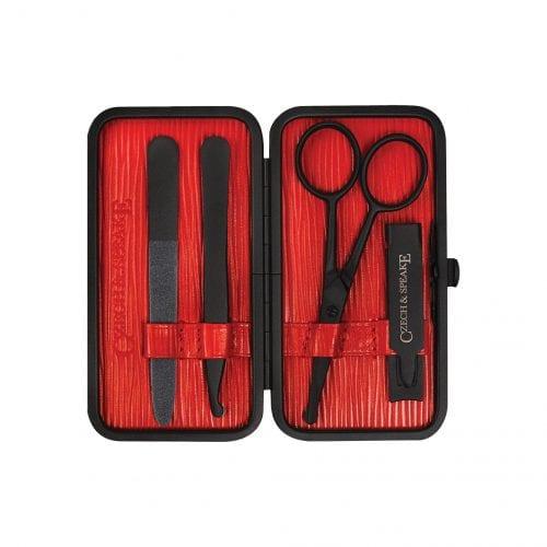 Air-Safe Manicure Set - Black/Red Teflon