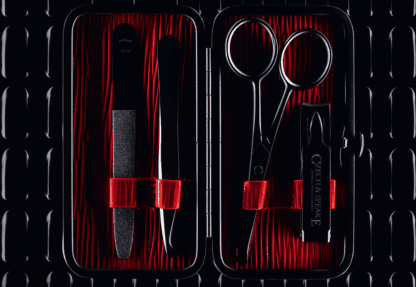 Air-Safe Manicure Set - Black and Red