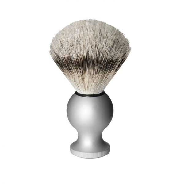 Badger Shaving Brush, silver