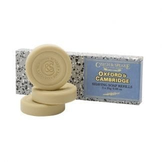 Oxford and Cambridge Travel Shaving Soap Refills 3x 25g