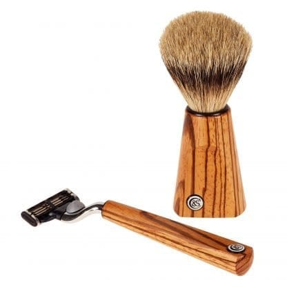Zebrano Wood Shave Set
