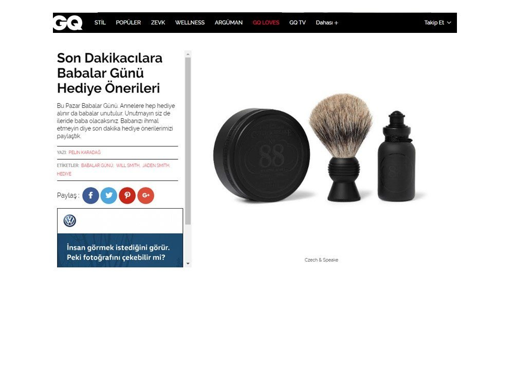 As GQ says, one should not forget one's father on Father's day. They suggest three different Czech & Speake grooming products, fit for all budgets: the ...