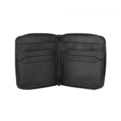 Zip around Wallet in black leather