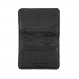 Foldable Card Holder in black leather