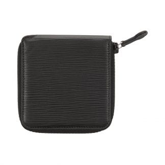 Zip Around Wallet in black leather