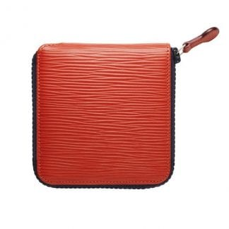 Zip Around Wallet in red leather