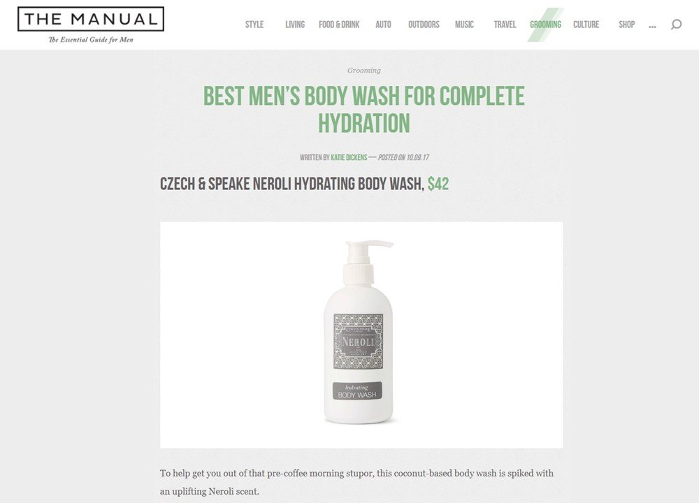 The Manual - Best Men's Body Washes