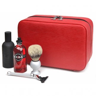 The Complete Gentleman's Grooming Gift Set - Red Leather