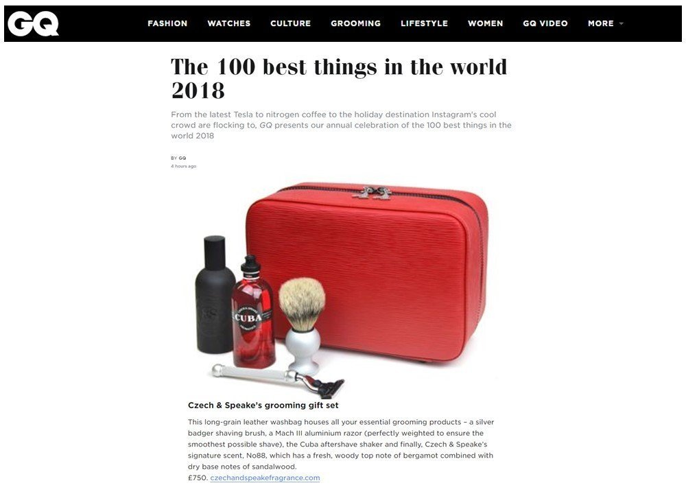 British GQ - Top 100 Best Things In The World 2018 - C&S