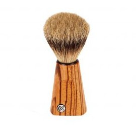 Zebrano Wood Silver Tip Badger Shaving Brush