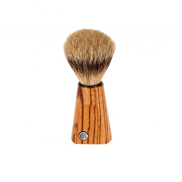 Zebrano Wood Silver Tip Badger Shave Brush