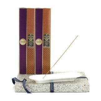 Incense Stick Kit – Holder with Dark Rose & Frankincense & Myrrh Incense