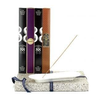 Incense Stick Kit – Holder with No.88, Dark Rose & Frankincense & Myrrh Incense